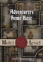 30x20 Multi-Level Battlemap - Adventurers Home Base | Seafoot Games