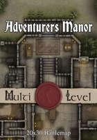 30x20 Multi-Level Battlemap - Adventurers Manor | Seafoot Games
