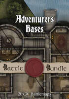 Adventures Bases | 30x20 Multi-Level Battlemaps [BUNDLE]