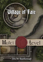 30x20 Multi-Level Battlemap - Village of Fate
