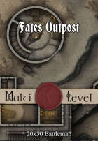 30x20 Multi-Level Battlemap - Fates Outpost