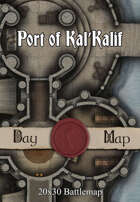 30x20 Multi-Level Battlemap - Port of Kal'Kalif