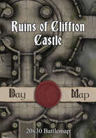 30x20 Multi-Level Battlemap - Ruins of Cliffton Castle