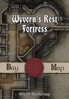 40x30 Battlemap - Wyvern's Rest Fortress