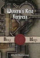 40x30 Battlemap - Wyvern's Rest Fortress
