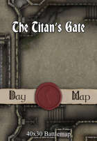 40x30 Battlemap - The Titan's Gate