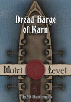 30x20 Multi-Level Battlemap - Dread Barge of Karn