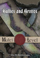 Gullies and Grottos | 30x20 Battlemaps [BUNDLE]