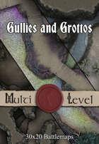 Gullies and Grottos   30x20 Battlemaps [BUNDLE]