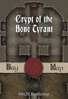 60x20 Battlemap - Crypt of the Bone Tyrant