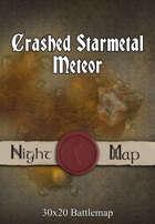 30x20 Battlemap - Crashed Starmetal Meteor (Night)