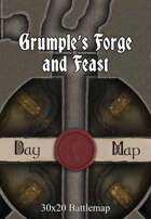 30x20 Multi-Level Battlemap - Grumple's Forge and Feast
