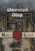30x20 Multi-Level Battlemap - Wintersreach Village