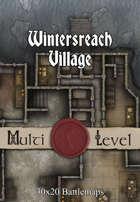30x20 Multi-Level Battlemap - Wintersreach Village