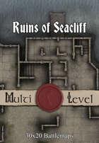 30x20 Multi-Level Battlemap - Ruins of Seacliff