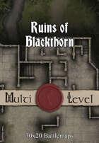 30x20 Multi-Level Battlemap - Ruins of Blackthorn