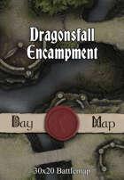 30x20 Battlemap - Dragonsfall Encampment