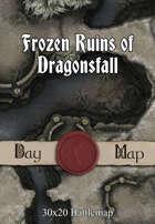 30x20 Battlemap - Frozen Ruins of Dragonsfall