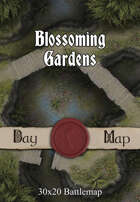 30x20 Battlemap - Blossoming Gardens