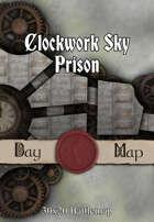 30x20 Battlemap - Clockwork Sky Prison