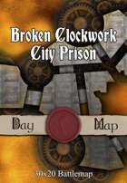 30x20 Battlemap - Broken Clockwork City Prison