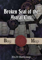 30x20 Battlemap - Broken Seal of the Astral City