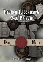 30x20 Battlemap - Broken Clockwork Sky Prison