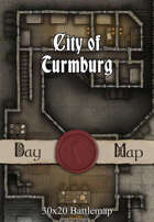 30x20 Multi-Level Battlemap - City of Turmburg