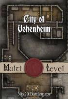 30x20 Multi-Level Battlemap - City of Vohenheim