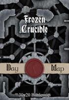 30x20 Battlemap - Frozen Crucible