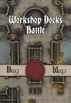 30x20 Battlemap - Workshop Docks Battle