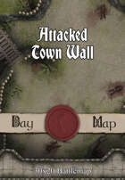 30x20 Battlemap - Attacked Town Wall