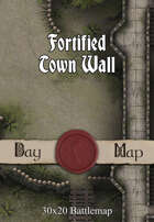 30x20 Battlemap - Fortified Town Wall