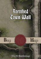 30x20 Battlemap - Fortified Town Wall