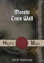 30x20 Battlemap - Moonlit Town Wall
