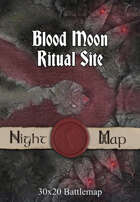 30x20 Battlemap - Blood Moon Ritual Site
