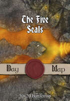 30x20 Battlemap - The Five Seals