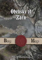 30x20 Battlemap - Obelisks of Zarn
