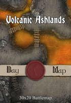 30x20 Battlemap - Volcanic Ashlands