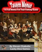 Tavern Menus - 10 Fun Menu Handouts For Your Fantasy Tavern Adventures