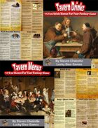 Tavern Menu & Drink Handouts Collection [BUNDLE]