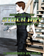 Modern Action Stock Art: Operative / Agent #2