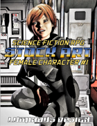 Sci-Fi Stock Art Female Character #1