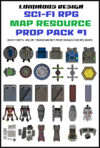Sci-fi RPG Map Prop Pack #1