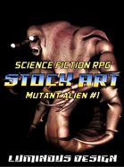 Sci-Fi Stock Art Mutant Alien #1