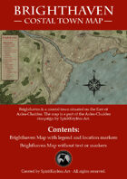Brighthaven Coastal Town Map