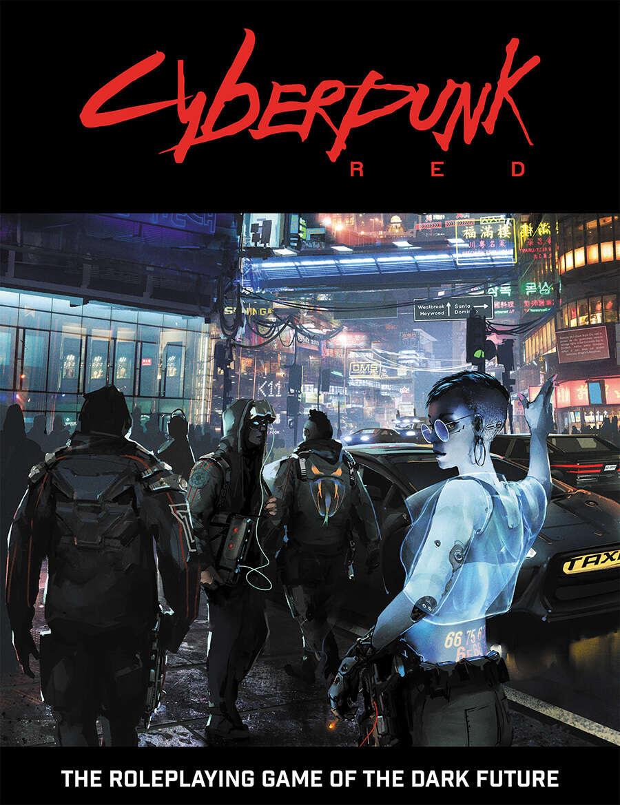 Copertina del Manuale Base di Cyberpunk RED