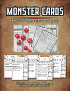 Monster Cards - CR 0-2 (except Dragons)