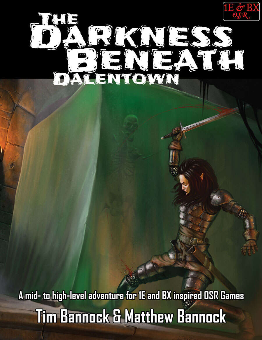 Cover of DD-01 The Darkness Beneath Dalentown for 1st Edition and BX