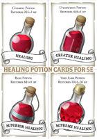 Healing Potion Cards (5e)